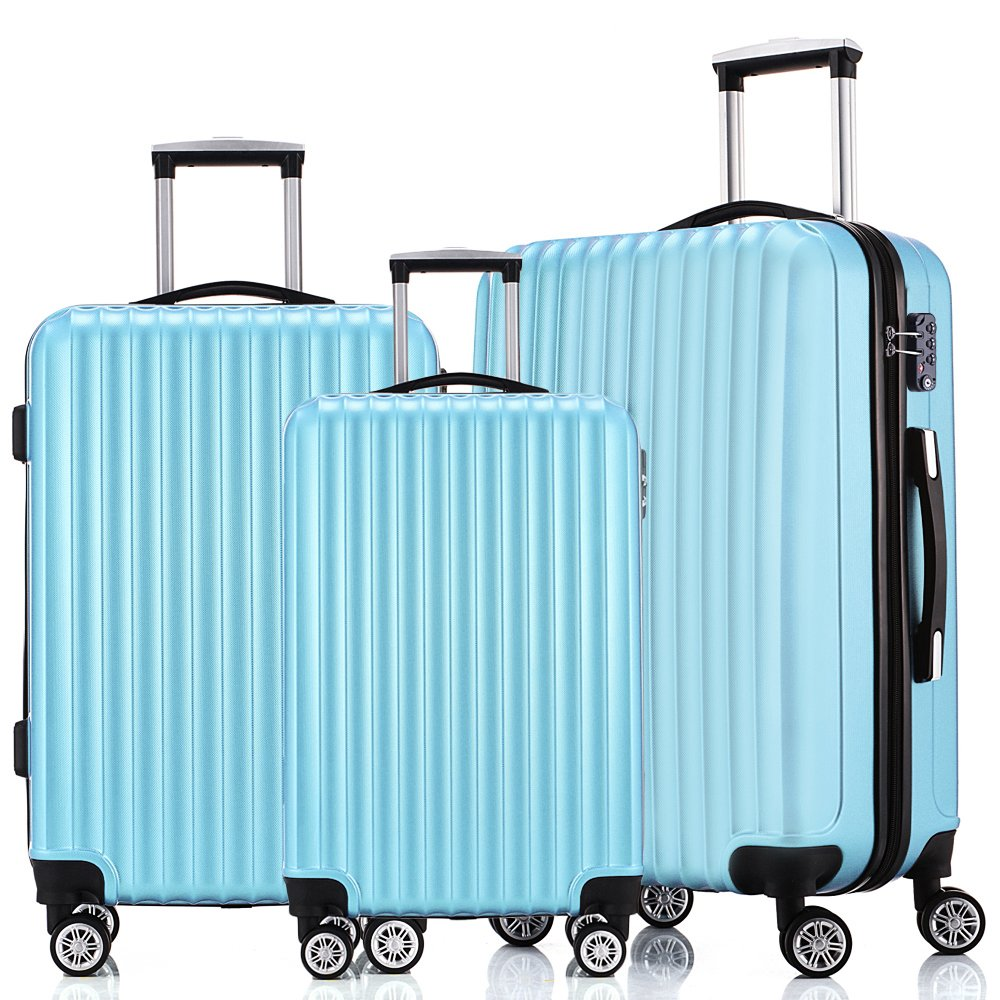Fochier Luggage 3 Piece Set Hardsell Spinner Suitcase With TSA Lock by FOCHIER F