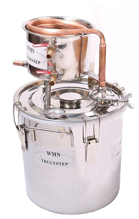 Kit de destilación de 10 l para el hogar; destilador de cobre;