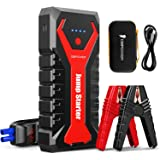 DBPOWER 2000A/20800mAh Portable Car Jump Starter (UP to 8.0L Gas/6.5L Diesel Engines) 12V Auto Lithium-Ion Battery Booster wi