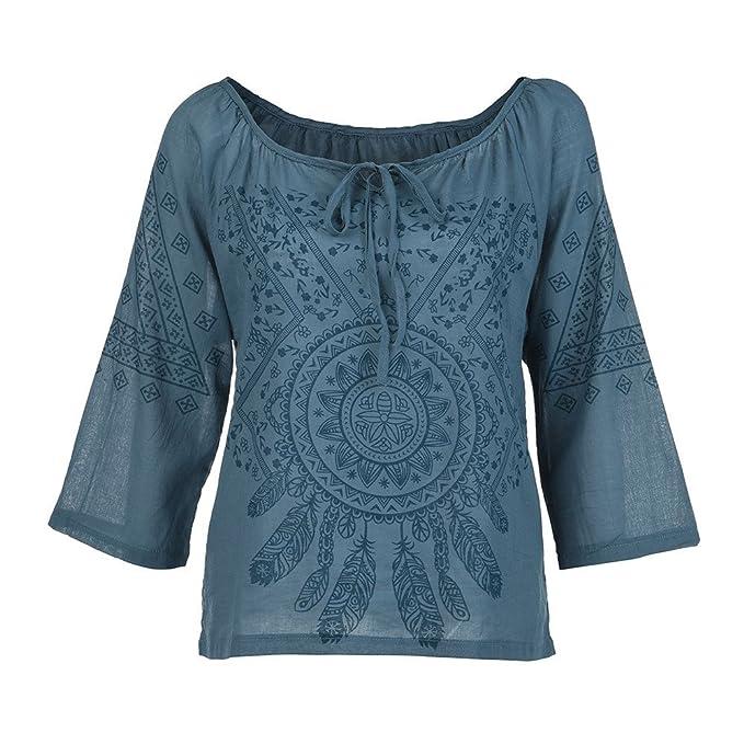 K-Youth® Camisas Mujer Tallas Grandes Suelto Sexy Estampado ...