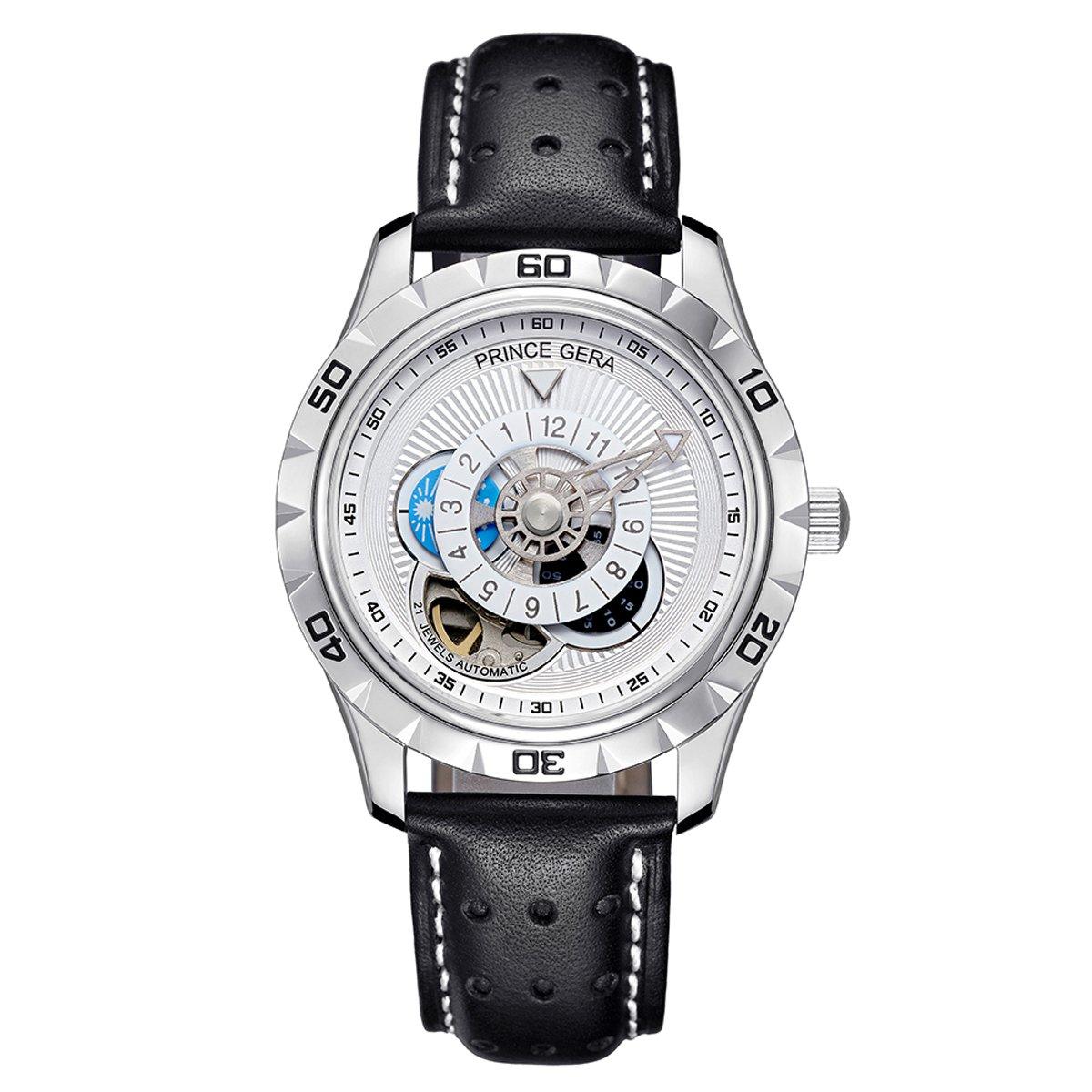 PRINCE GERA Men'Automatic Waterproof Watch Luminous Hands Watches for Men
