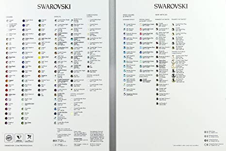 Amazon Swarovski Color Chart Foldable And Standing Board 2088