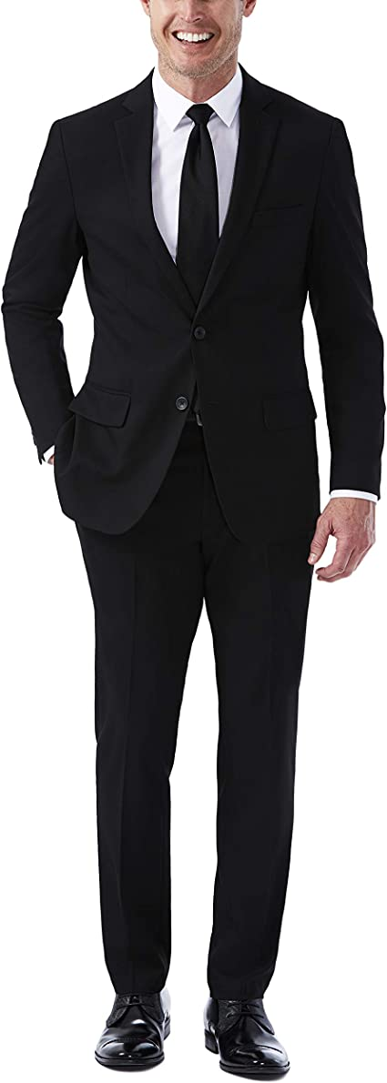 J.M Haggar Mens Premium Performance Stretch Stria 2-Button Suit Separate Blazer