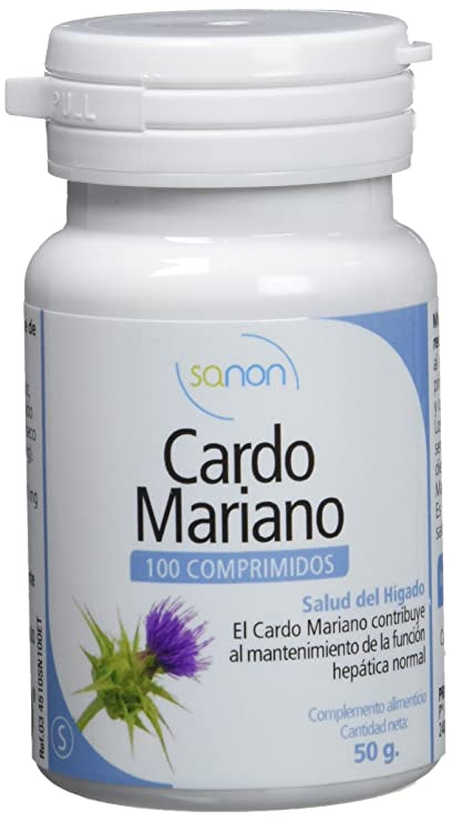 SANON Two Pack Cardo Mariano 100 comprimidos de 500 mg