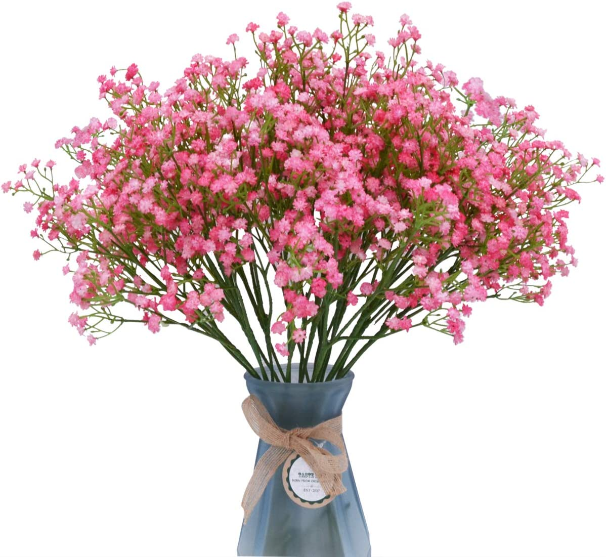LUYAR 12 PCS Baby Breath, Pink Gypsophila Artificial Flower - Real Touch Fake Flower PU Plants for Wedding Bouquets & DIY Home Decor