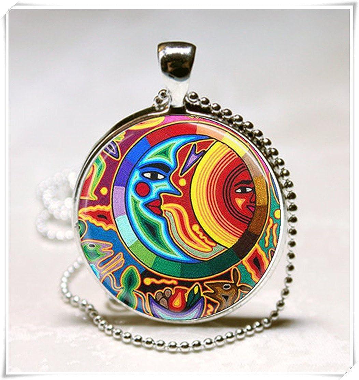 mexicain Art Pendentif en verre, Art Déco Pendentif meet you VT57