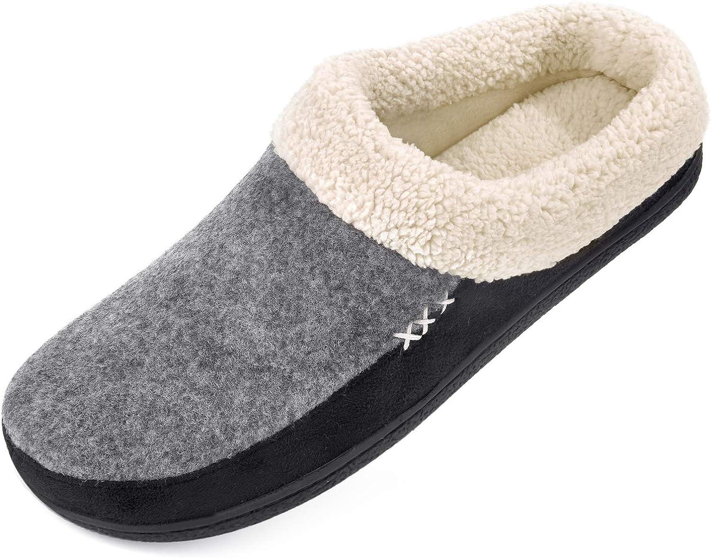 Wool Plush Fleece Memory Foam Slippers