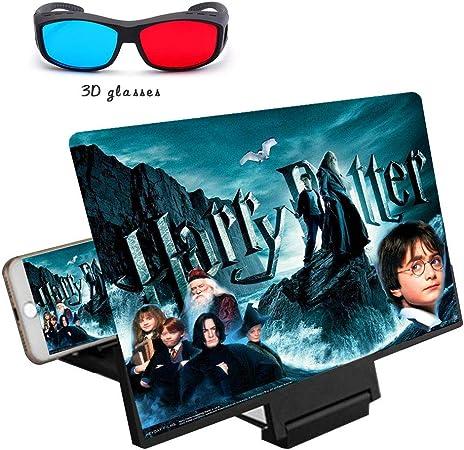 SJFDQKX 14 Lupa de Pantalla de teléfono 3D, Ampliación de HD ...