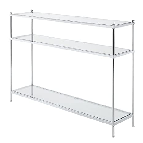 Convenience Concepts Royal Crest Collection Console Table, Chrome/Glass by Convenience Concepts
