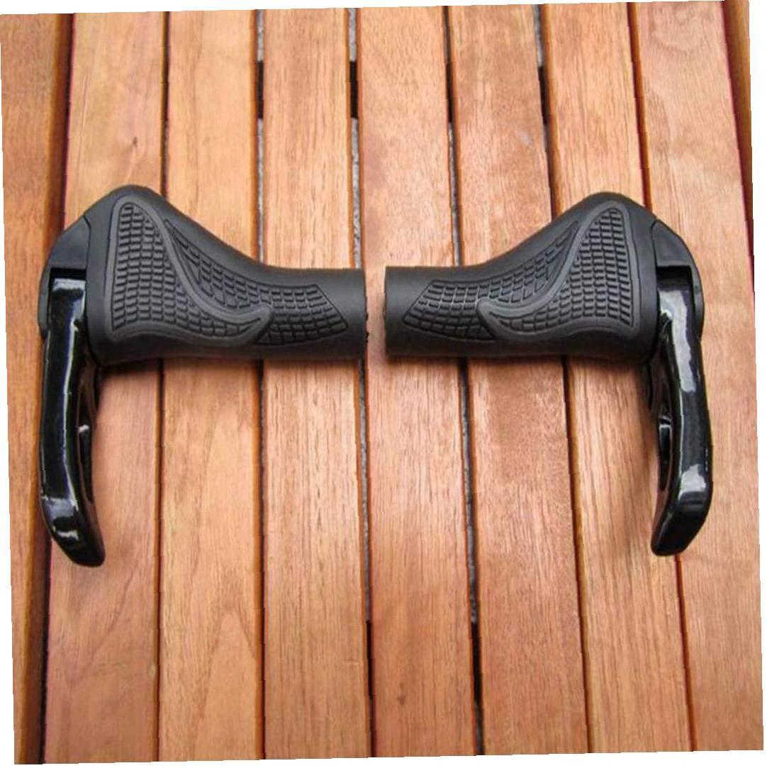 Der Fahrrad Ergonomische Griffe Gripper Fahrrad Designer Fahrradgummiauflage Gebiet ATV Grip Schrauben Auf Schwarzem 1pair Arretierungsgriff Expand