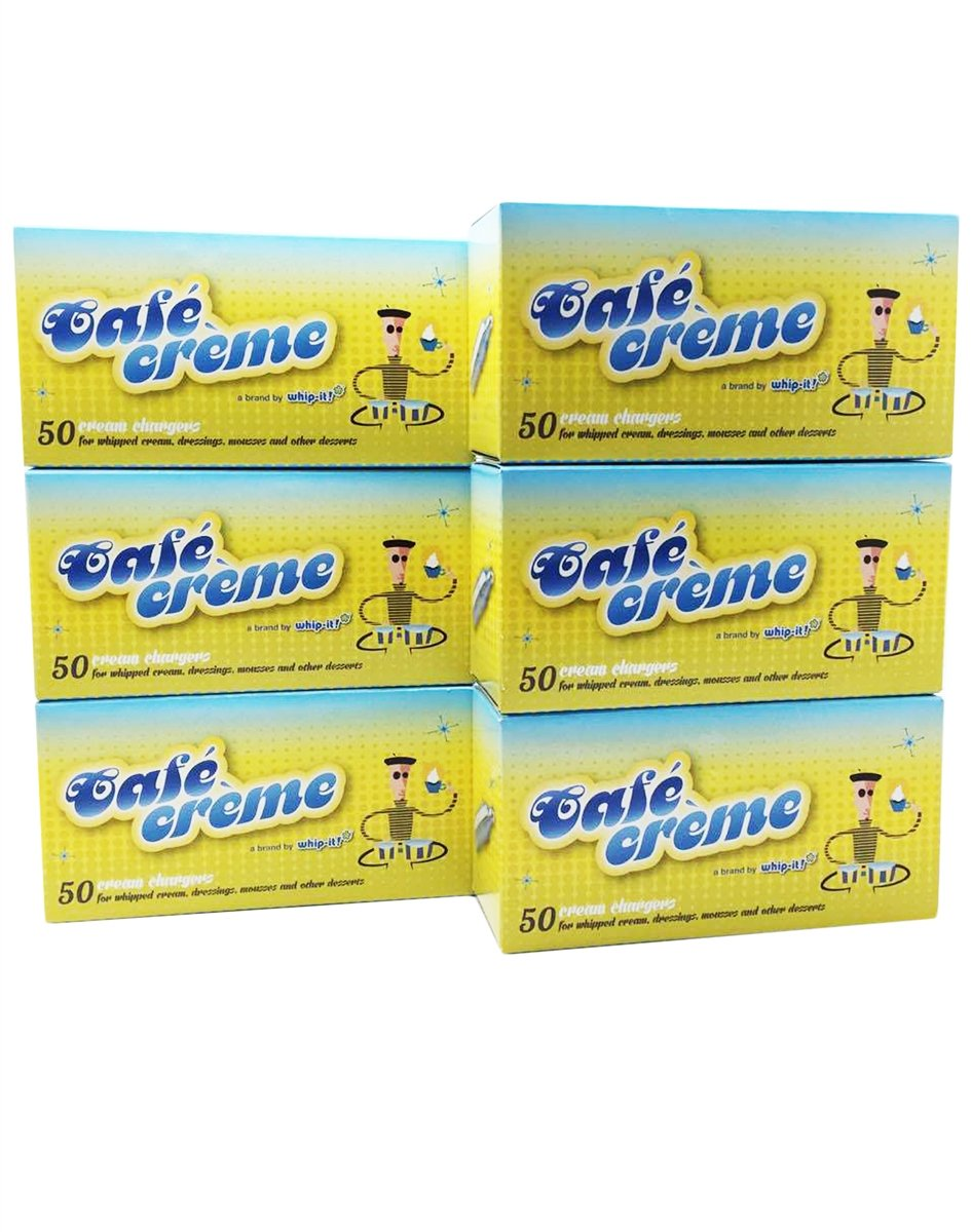 Whip-it! CC-1250T Cafe Creme Cream Chargers, 50 Pack, Case of 600 by Whip-it!