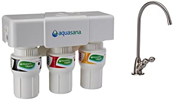 Aquasana 3 Stage Under Sink Water Filter System With Brushed Nickel