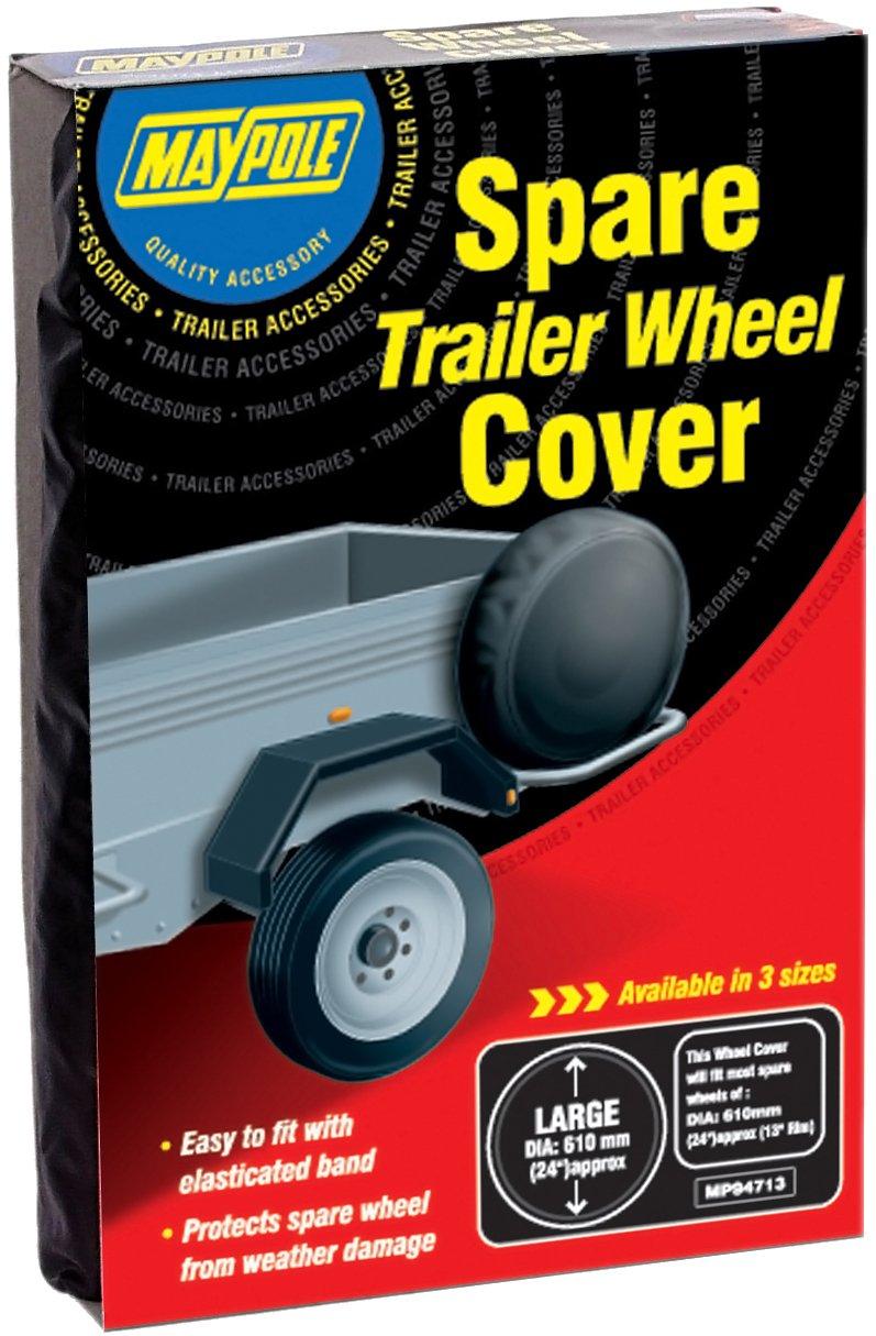 "Trailer Spare Wheel Cover For 10/"" Diameter Wheels Maypole 94710"