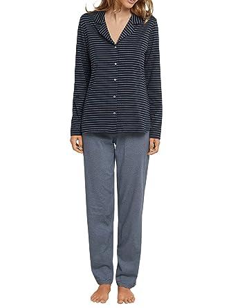 4091c11f60 Schiesser Damen Pyjama Lang 160977: Amazon.de: Bekleidung