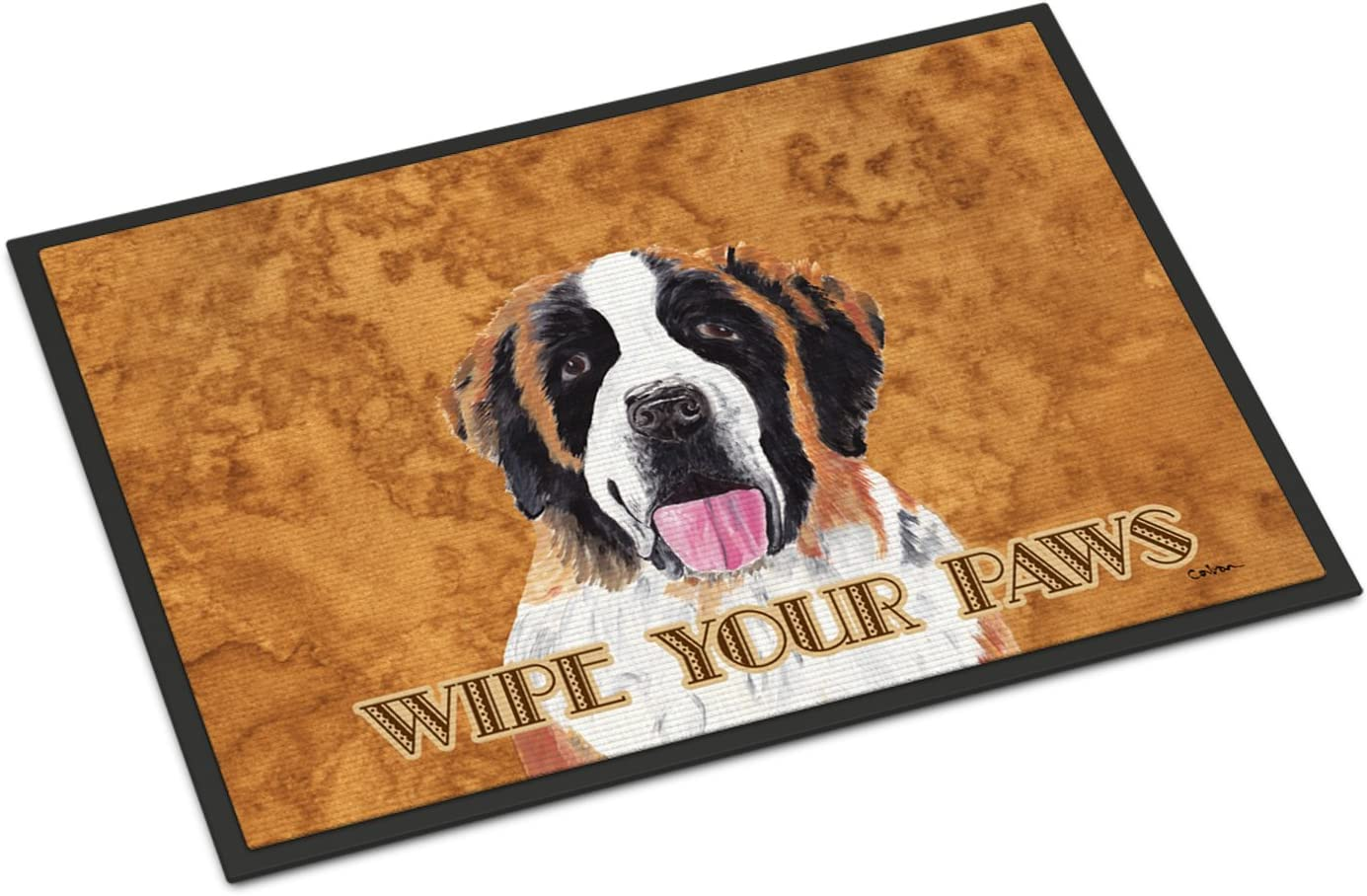 Caroline s Treasures SC9129JMAT Saint Bernard Indoor or Outdoor Mat 24×36 Doormat, 24H X 36W, Multicolor