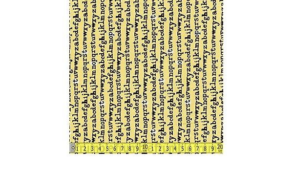 Windham tipo letras de máquina de escribir tela de costura amarillo (Precio por metro): Amazon.es: Hogar