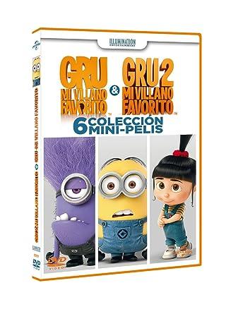Gru Colección 6 Mini Amazonde Personajes Animados Varios