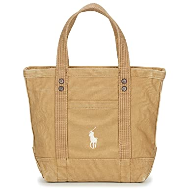 Polo RALPH LAUREN PP Tote Bolso Shopping Mujeres Beige - única ...