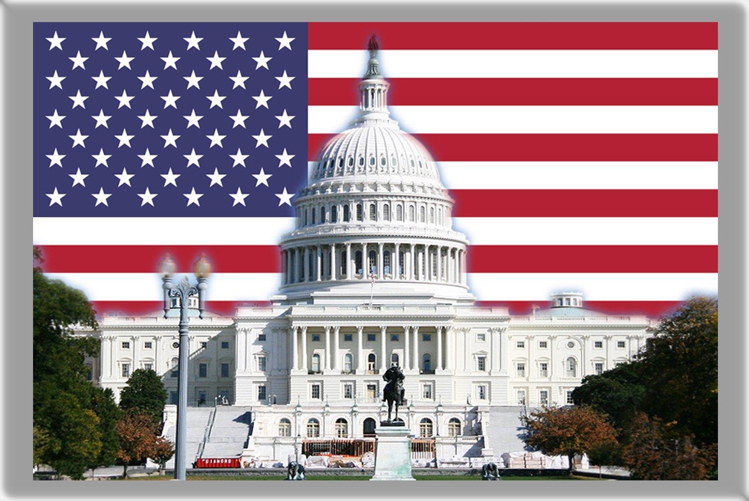 WASHINGTON, D.C. AIMANT POUR LE FRIGO, THE CAPITAL CITY OF UNITED STATES REFRIGERATOR MAGNET