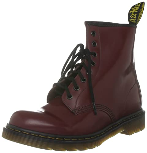 Dr. Martens Unisex Broken In 1460 Cherry Red Lace Up Boot 10072609 3 UK 14853e3ec2bc