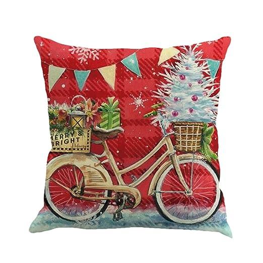 RWINDG_Kissenbezug rwindg Navidad Printing algodón Cotton ...