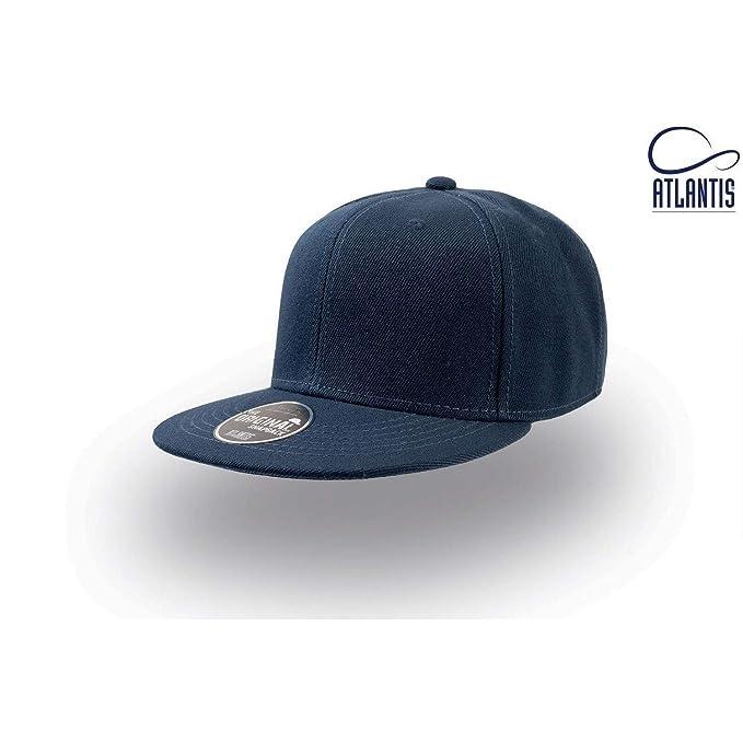 ATLANTIS - Cappellino con Visiera Piatta Snapback - Bambini (Taglia Unica)  (Blu Navy b5765def3cec