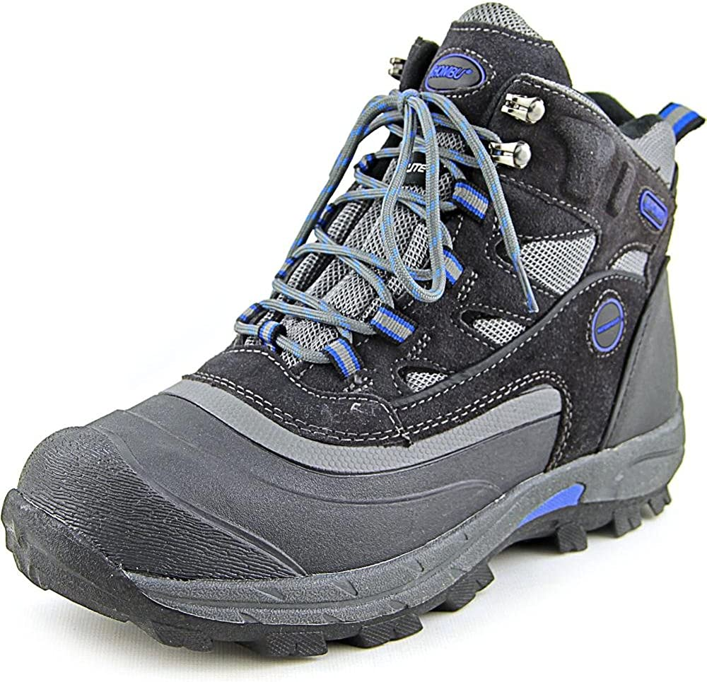 Khombu Men s Fleet Hiker Terrain Weather Rated Winter Boots Snow Grey Blue 8 M