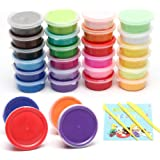 Gift for Kids, 24 Colors Modeling Magic DIY Super Light Clay, Air Dry Clay, Non-sticky and Non-Toxic Scented.