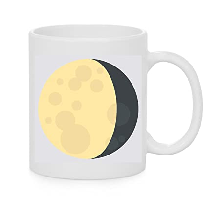 Emoji Mug Bibbous menguante Luna Símbolo Emoji: Amazon.es: Hogar