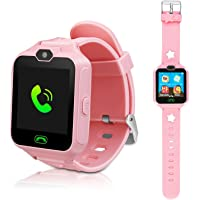 DUIWOIM Kids Smart Watch, Phone Watches for Girls Boys, Digital Wrist Watch, Smart Watch for 3-14 Years Old, Touch Screen Camera Anti-Lost SOS Button Smartwatch Great Gift for Children (Pink)
