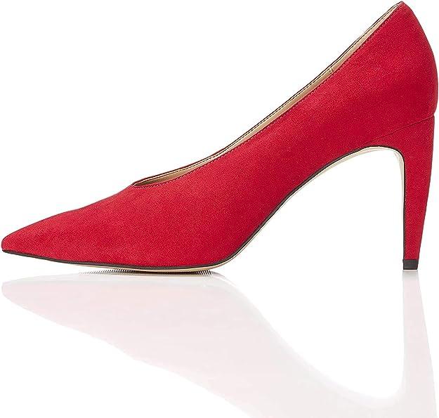 TALLA 39 EU. Marca Amazon - find. Zapatos de Tacón con Empeine Alto para Mujer