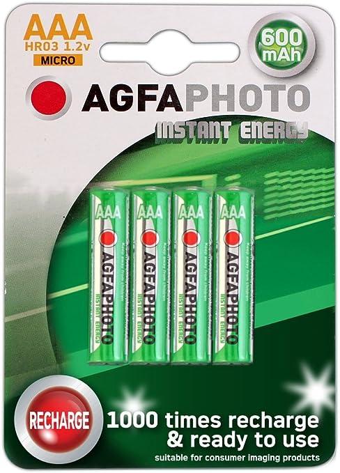 AGFA AAA NiMh - Pilas Recargables para teléfono inalámbrico (4 Unidades, BT (Inc Diverse, Studio, Grafito, etc.), Doro, iDect, MagicBox, Panasonic, Philips, Siemens): Amazon.es: Electrónica