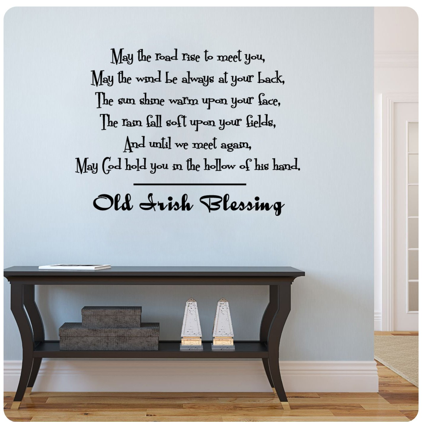 Amazon old irish blessing wall decal sticker art mural home amazon old irish blessing wall decal sticker art mural home dcor quote home kitchen amipublicfo Gallery