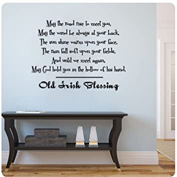 Old Irish Blessing Wall Decal Sticker Art Mural Home D Cor Quote