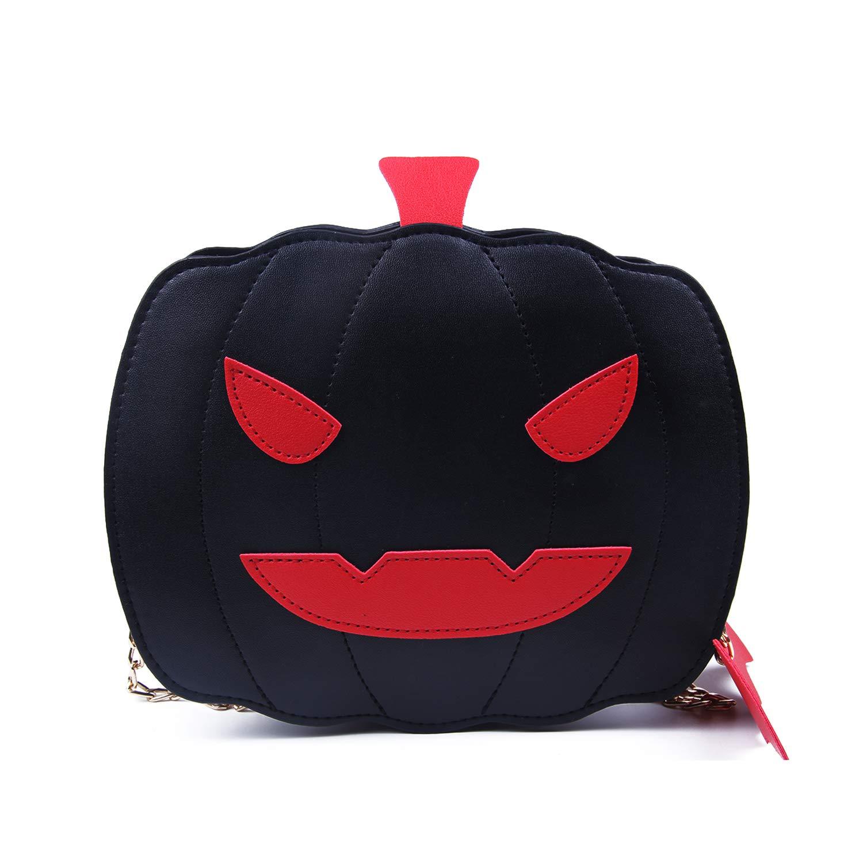 Kuang Women Pumpkin Crossbody Bags Halloween Devil Purse Fashion Trick or Treat Shoulder Handbag Girls Tote