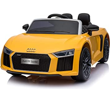 Buy Getbest Remote Controlled Ride On Audi R8 Spyder Toy Car Yellow
