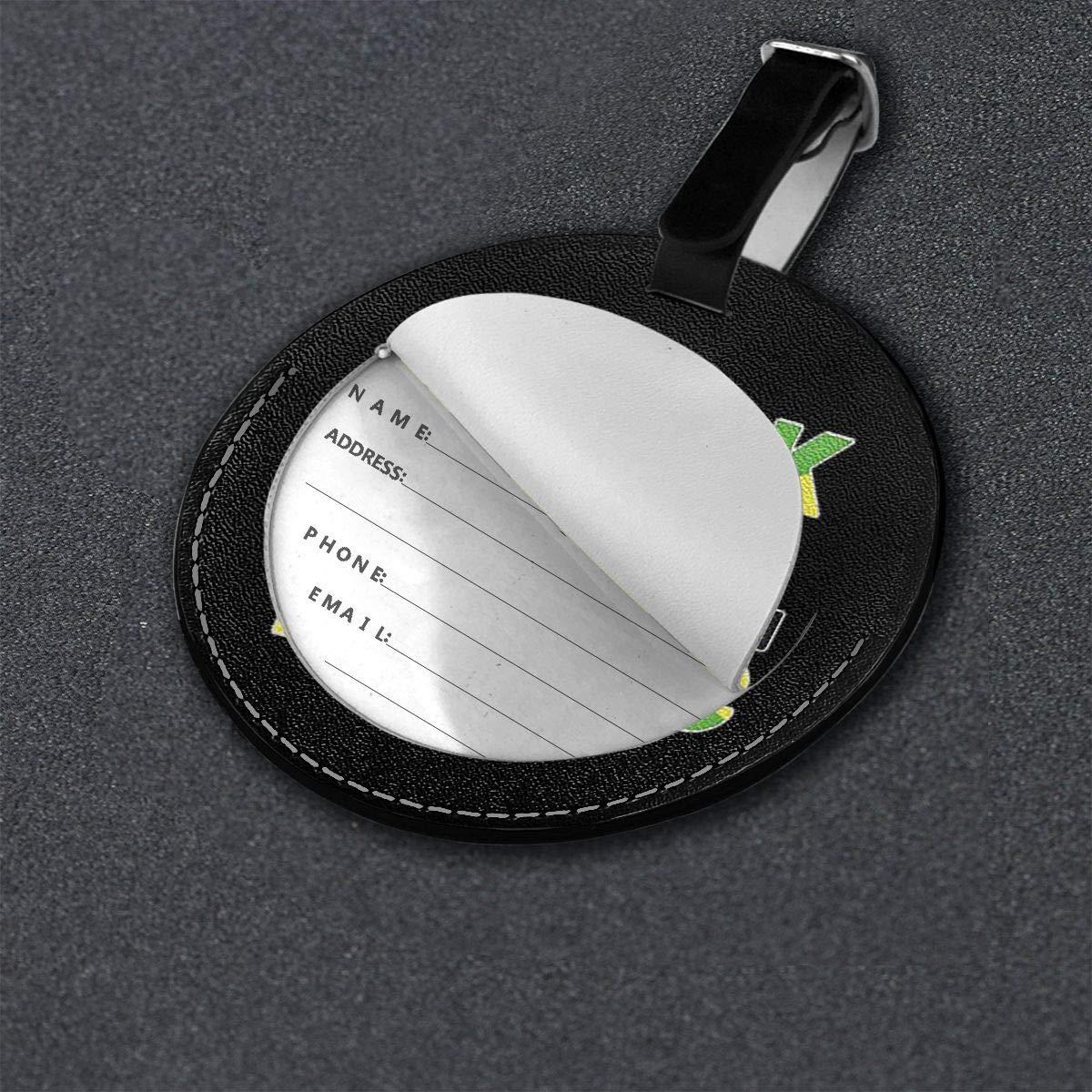 Free-2 Black Girl Magic Jamaica Flag Luggage Tag 3D Print Leather Travel Bag ID Card