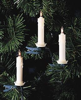 kurt s adler 10 light clip on white candle with clear bulbs christmas breaking lighting set