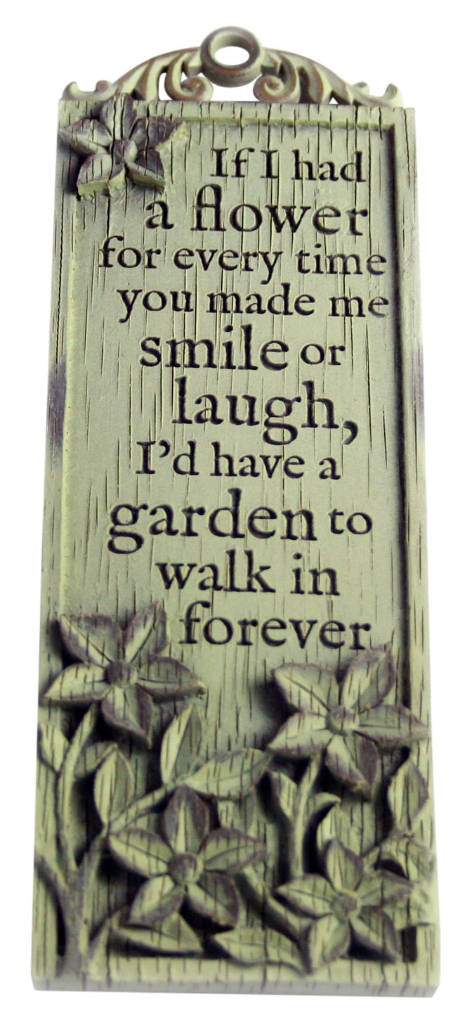 Driftwood Tall Plaques-If I had a Flower for Every time.
