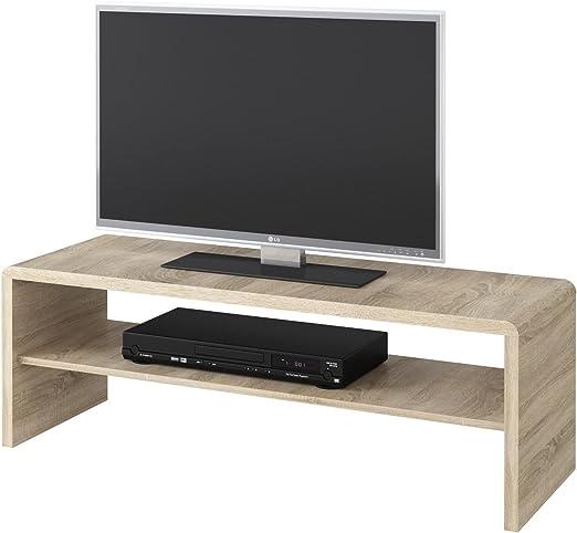 Mesa TV LOWBOARD Televisión mesa Lexa, en Roble Sonoma, 120 x 40 ...