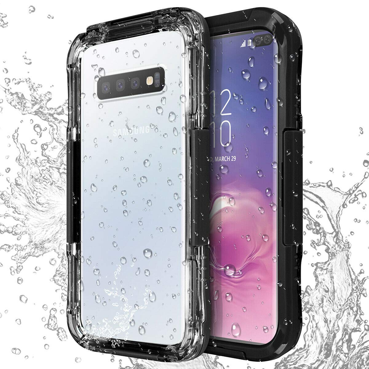XuBa for Samsung Galaxy S10//S10 Plus//S10e Shockproof Waterproof Dirt Proof Case Full Cover Black S10e