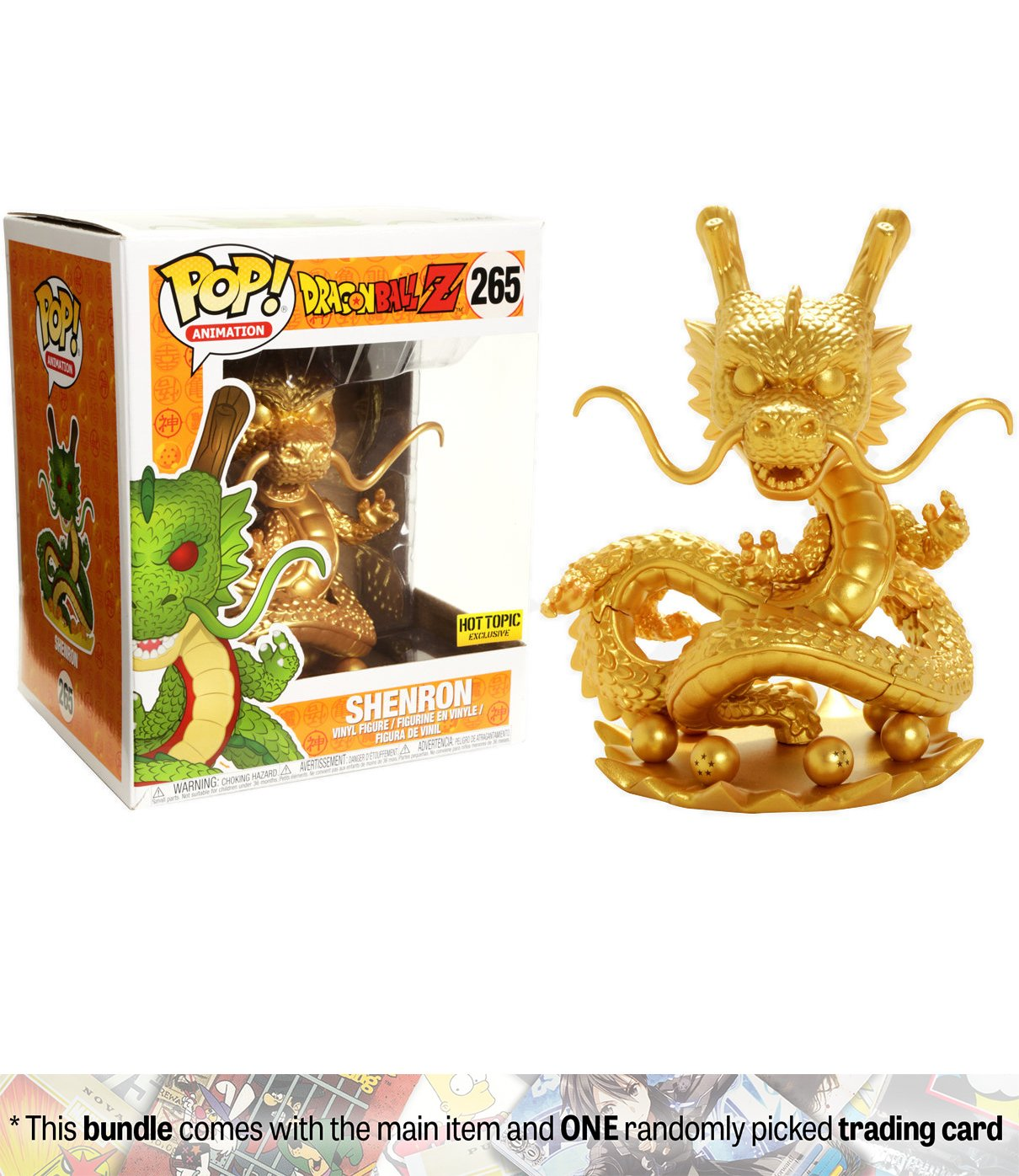 Amazon.com: Shenron [Golden Color] (Hot Topic Exclusive): Funko ...