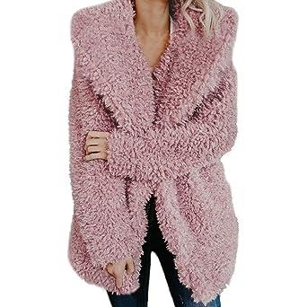 Amazon.com: Gessppo Women Winter Warm Coat Artificial Wool Jacket Lapel Shaggy Oversized Jacket Outerwear: Clothing