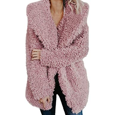 Btruely Herren Chaqueta Suéter Abrigo Jersey Mujer, Chaquetas Pelo Sintético Abrigo de Lana Abrigo de Lana Artificial de Damas para Mujer Prendas de ...
