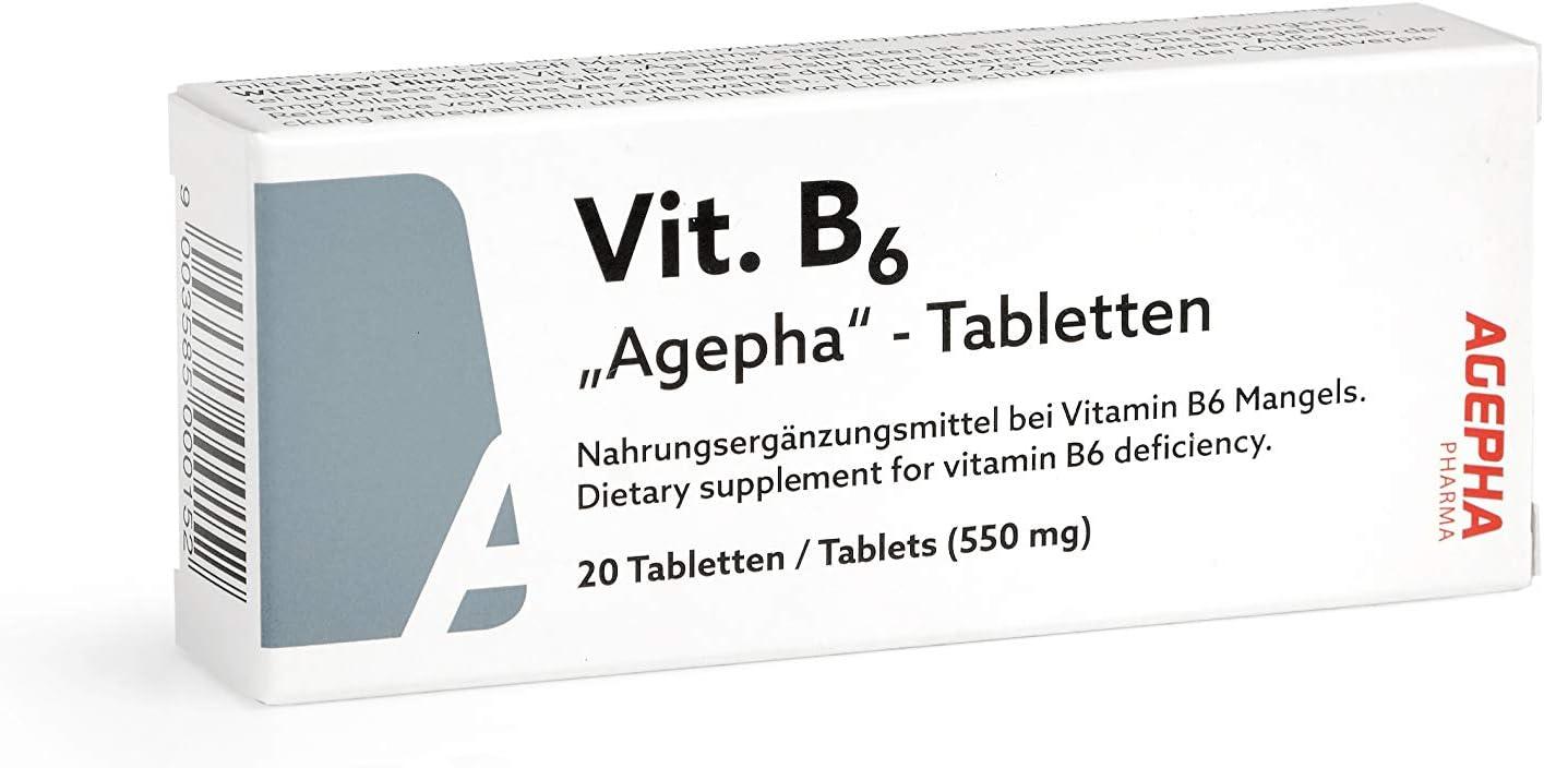 Vitamina B6 de AGEPHA PHARMA | Tabletas de Piridoxina de 20mg ...