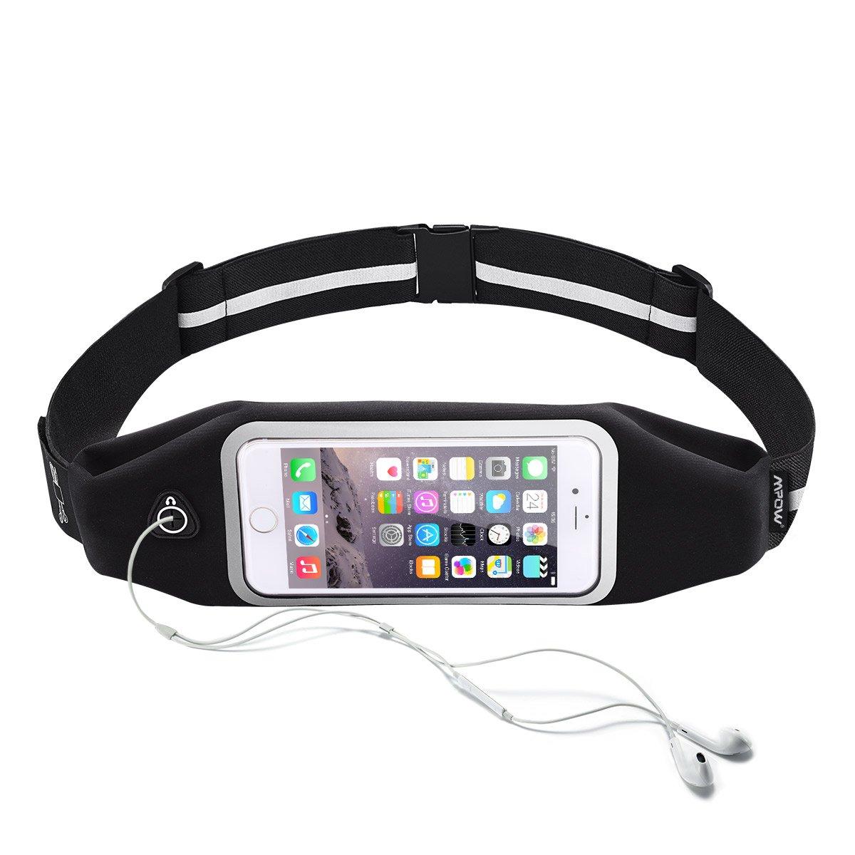 Handy Lauftasche, Mpow Sport Lauftasche Wasserdichte Sport Hüfttasche mit reflektierenden Streifen für iPhone 7/ 6 /6S /SE /5S /5 usw bis zu 6 zoll
