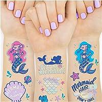 26d3264483c2e xo, Fetti Mermaid Party Supplies Temporary Tattoos for Kids - 24 Glitter  Styles | Mermaid
