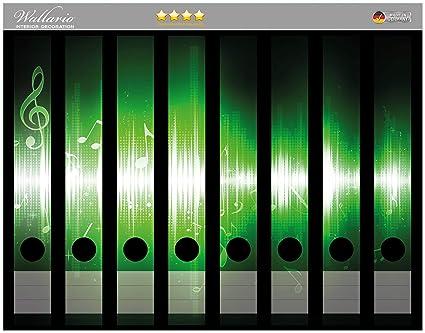 Wall Ario archivadores Pegatinas Verdes Notas de la música en Premium Calidad – Tamaño 36 x