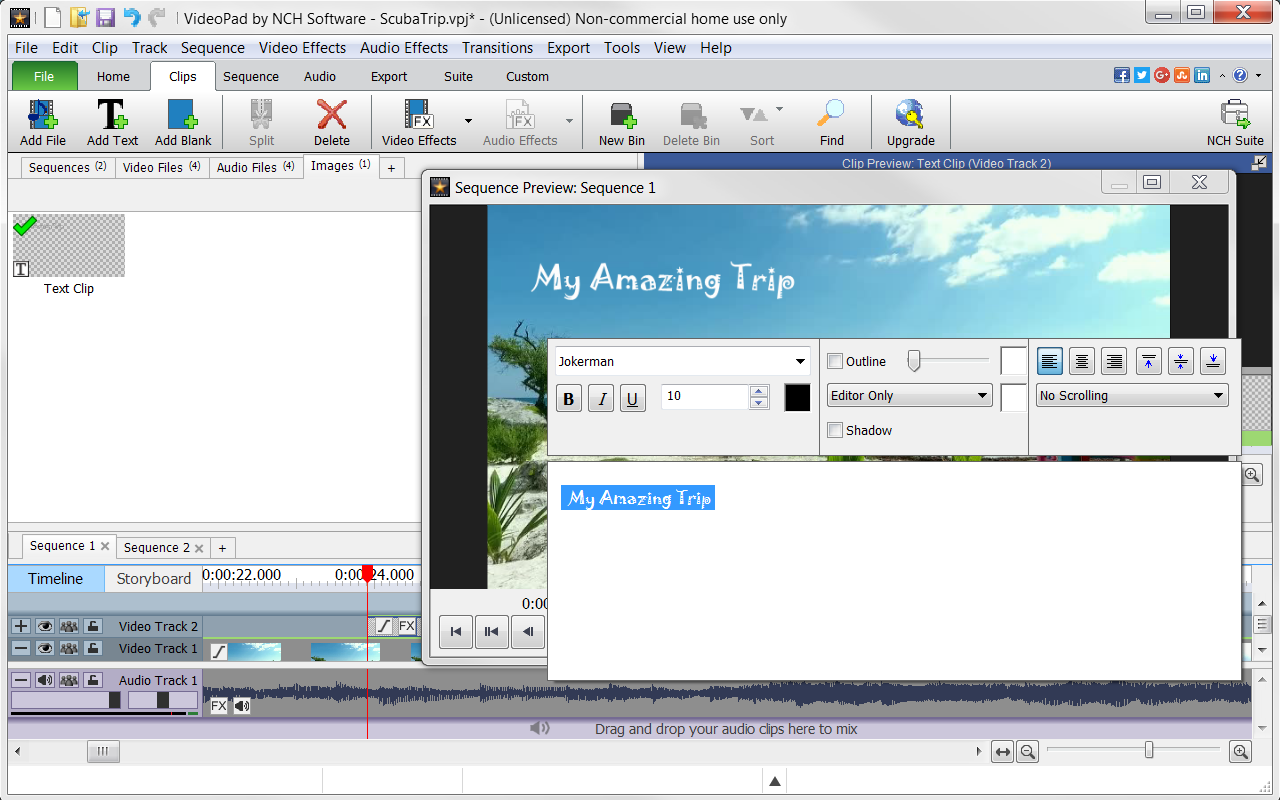 VideoPad Video Editor Free - Create Stunning Movies and