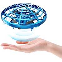 DEERC Drone Mini Toy Hand Operated Drone for Kids or Adults UFO Flying Ball Gifts for Boys and…